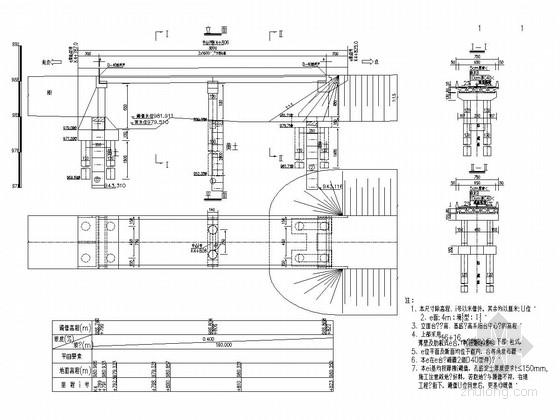 16+16m扶壁式桥台预制空心板桥全套施工图(48张)