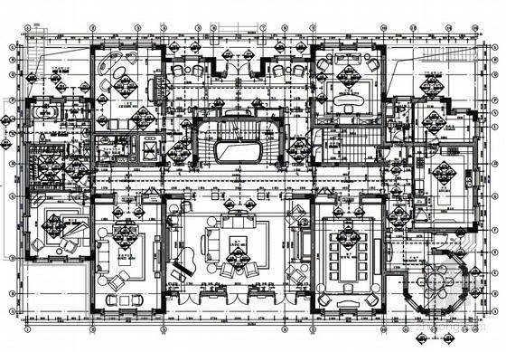 [上海]超奢华霸气欧式别墅施工图(含效果图、材料样板)
