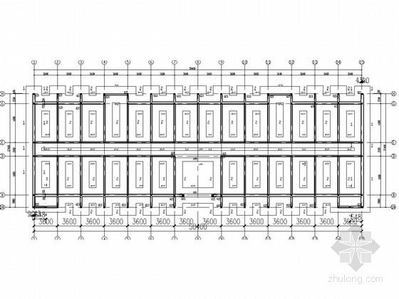 五层砖混结构宿舍楼结构施工图