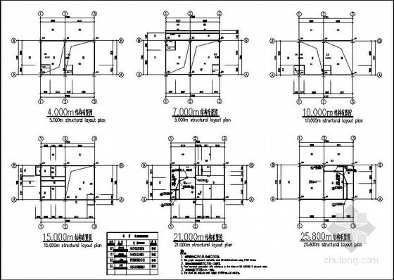 25.8m钢结构转运站结构施工图