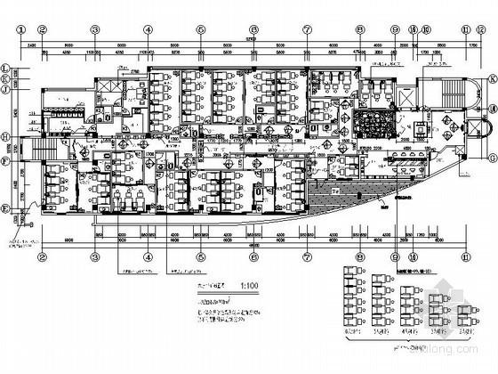[上海]精装保健足浴室内施工图