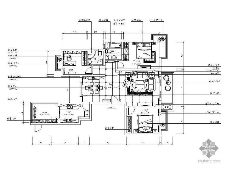 现代古典某小区三室两厅设计图(含实景)
