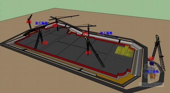 [江苏]办公楼及地下车库塔吊承台筏板复合基础施工方案(附节点大样图)
