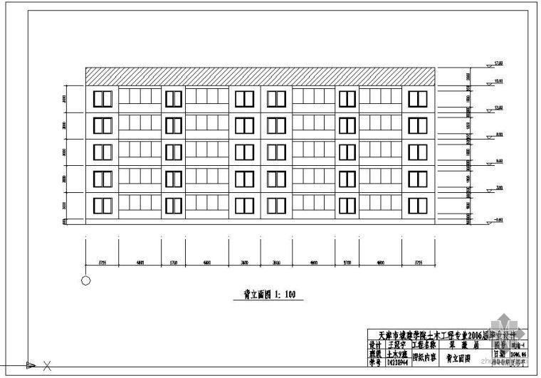 [学士]某钢结构多层住宅毕业设计(含计算书、建筑结构设计图)