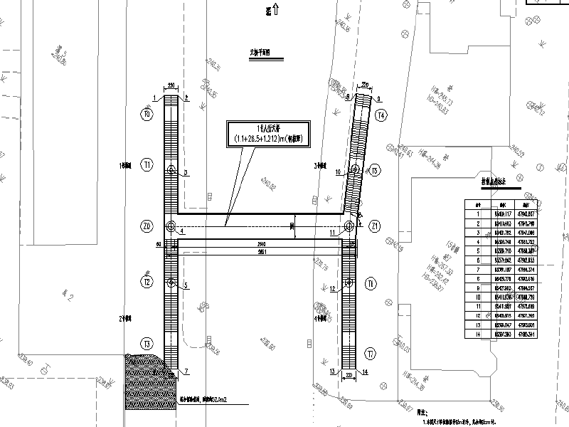 [重慶]小學前人行天橋項目工程施工圖紙