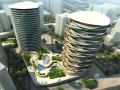 高层时尚商业建筑3D模型下载