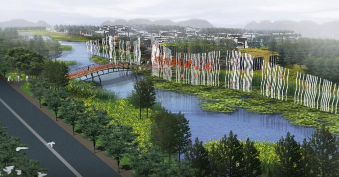 [河南]滨湖郊野生态避难型森林公园景观设计方案_3