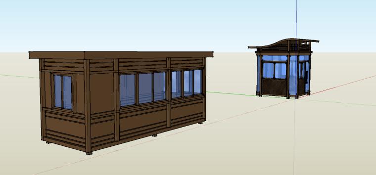 岗亭节点设计(su模型)-3