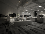 一套完整的办公室夜景3DMAX模型空间设计