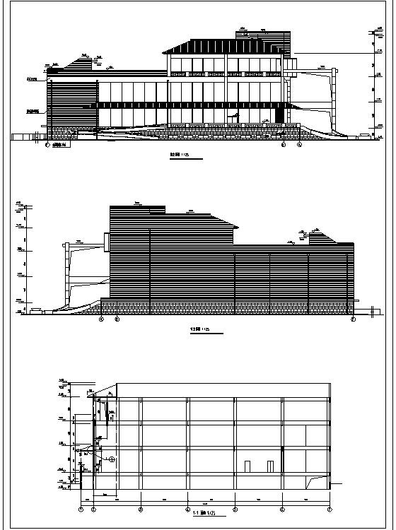 利安达多层办公综合楼施工图CAD