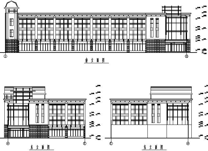 26X58m框架结构办公楼施工图(CAD,整套)