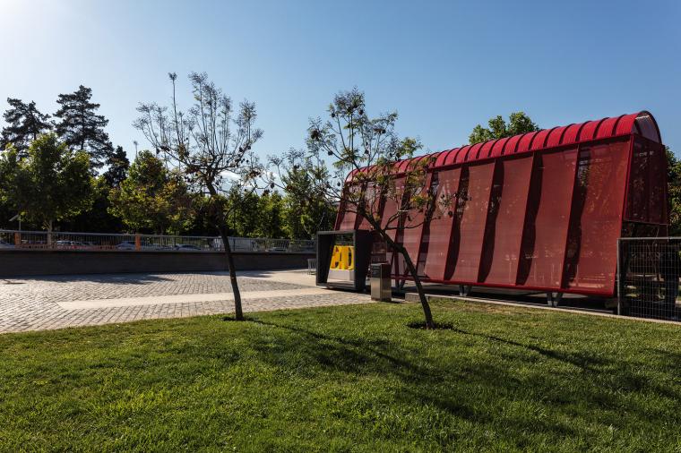 智利圣地亚哥展会入口亭装置-3