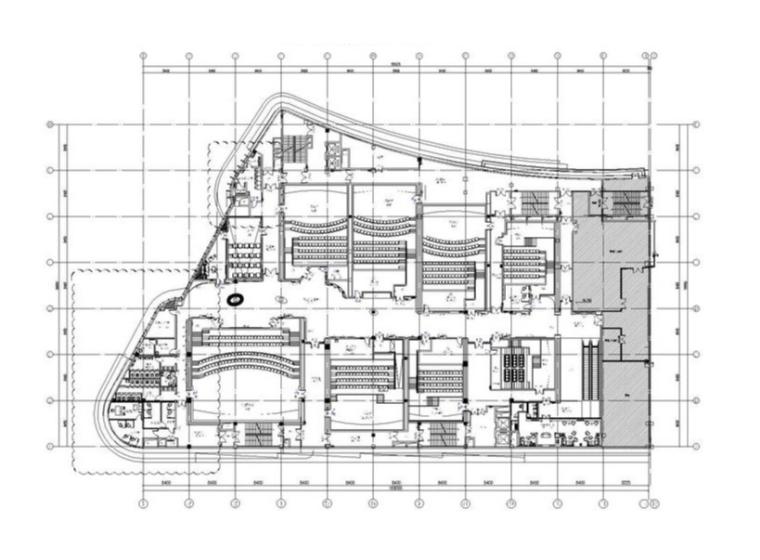 [南昌]BONA博纳国际影城南昌铜锣湾店室内设计方案+装修施工图+水暖电施工图