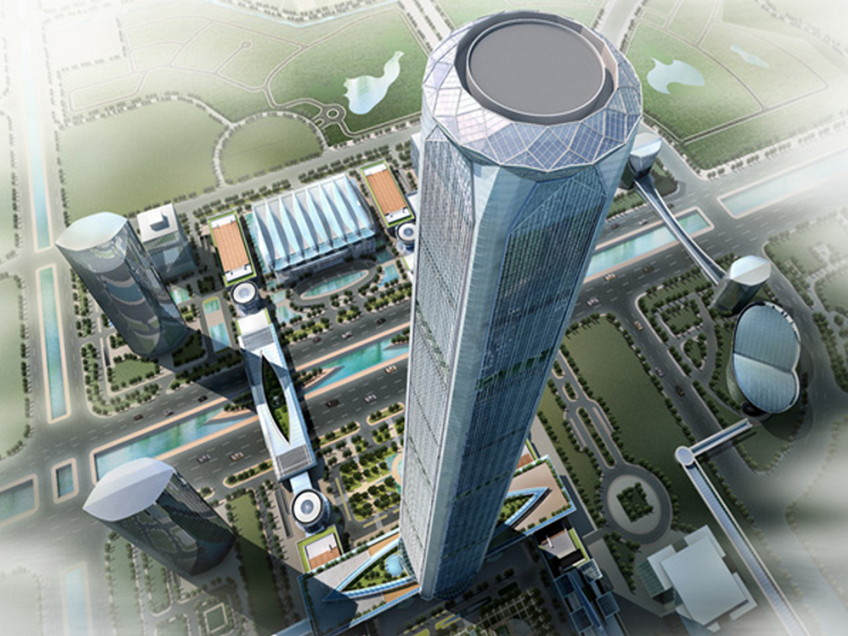 天津巨型框架核心筒斜撑结构大厦项目BIM技术应用