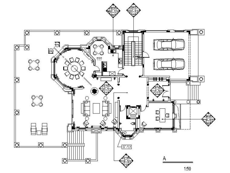 [深圳]高档娱乐型3层别墅室内设计施工图(含实景图)