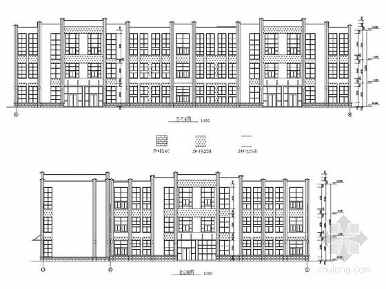 三层城市供水水质化验中心楼结构施工图(含建筑图)