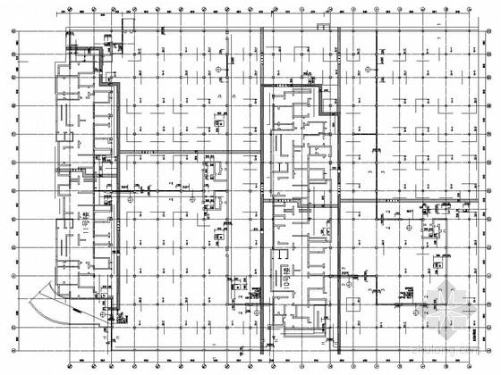 地下一层框架结构汽车库结构施工图