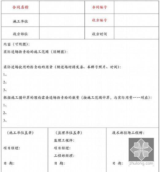 [重庆]地产集团施工单位现场签证工作指南(155页附表格)-工程现场收方记录