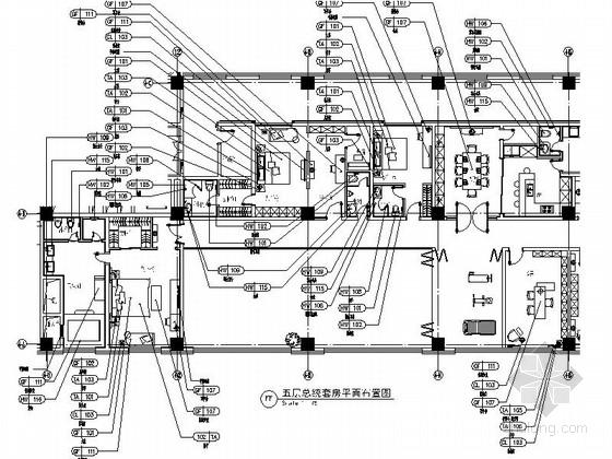 [北京]简欧风格汽车服务中心总统套房装修施工图(含效果)