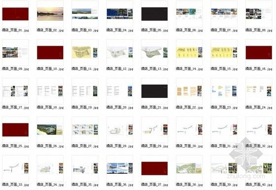 [三亚]弧线型度假酒店及豪华别墅区规划设计方案文本-总缩略图