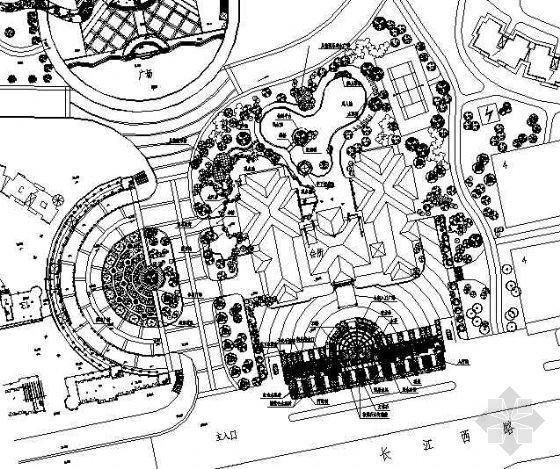 某广场设计平面图