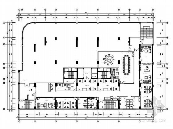 [南京]知名地产有限公司现代总部办公楼装修施工图(含效果)