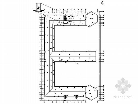 五层现代风格幼儿园建筑平面图