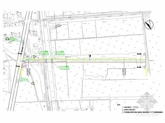 [江苏]二级公路CAD施工图设计及设计说明47张(含涵洞)