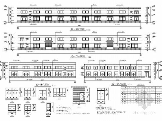 32米跨门式刚架结构生产厂房建筑及结构图