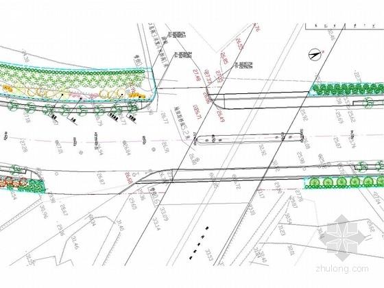 [天津]30m宽市政道路绿化工程全套施工图(39张)