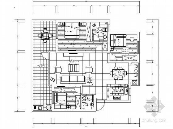 [江西]简约现代风格三居室样板间装修图(含效果及报价表)
