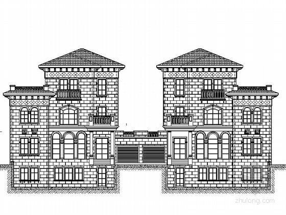 [江苏]3层双拼别墅建筑施工图(含地下一层)