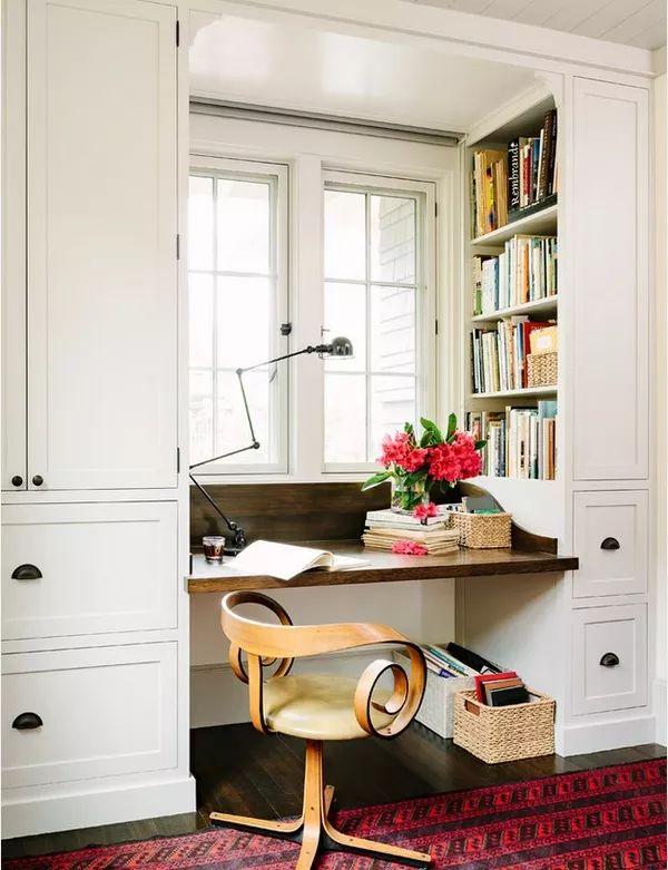 如何在家里挤出一间书房,这4种方案必须收藏!_16