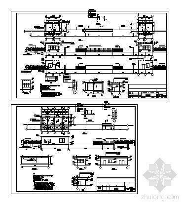 某公司大门门卫及传达室方案设计(带效果图)-3
