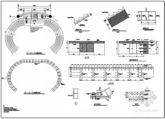 某混凝土和钢螺旋楼梯节点详图