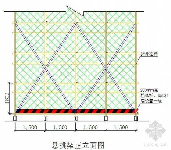 郑州某高层住宅脚手架施工方案(三段悬挑 附计算书)