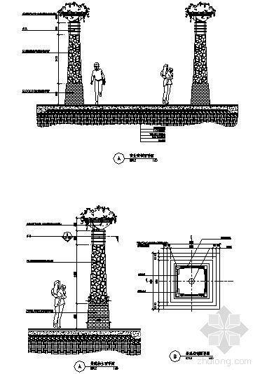 景观柱详图-4