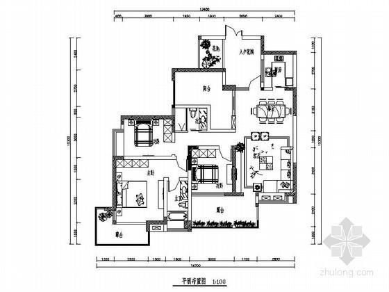 三居室简单装修方案