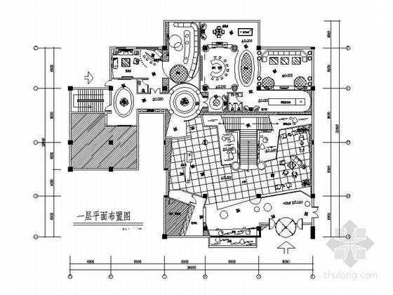 vip休息室平面图资料下载-[武汉]三角湖畔首家中外合资四星级酒店国际俱乐部设计施工图(含效果及实景图)