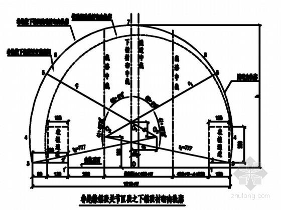 [四川]时速160公里客货共线铁路双线隧道锚段衬砌施工图238张(有砟)