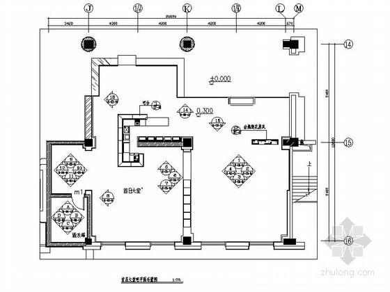 [吉林]典雅草原风情五星级酒店大堂吧装修施工图(含效果)