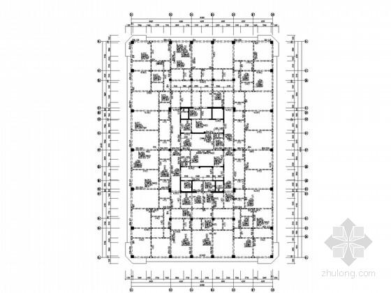 86米高二十四层框架核心筒商务楼结构施工图
