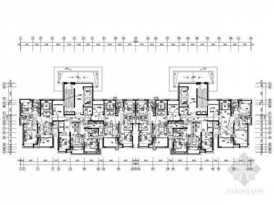 [江苏]三十三层大型住宅小区全套电气施工图纸120张(含三栋住宅楼)