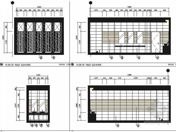 [北京]外国人生活聚集区韩国投资现代化综合超市施工图 立面图