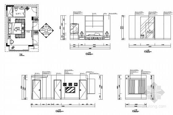 [广州]山水之间新中式风格三层别墅装修图(含效果图)小孩房立面图