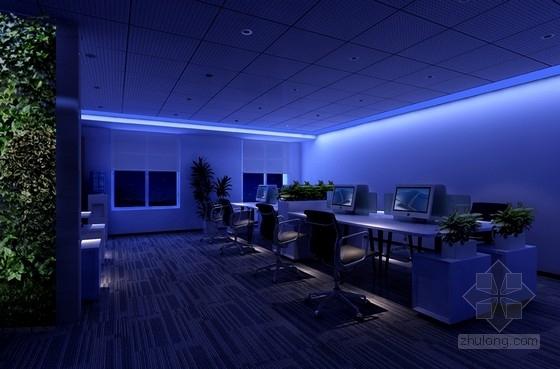 [北京]国有骨干企业现代简约风格办公室精装修设计方案效果图