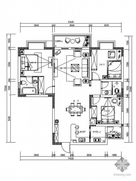 [重庆]现代风格三室两厅装修图