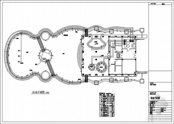 广州东莞市某花园泳池工程设计图