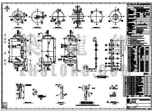 江苏某純水及廢水處理系統工程中离子交换器详图