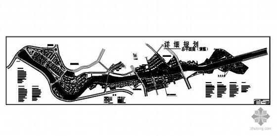 湖南沿河风光带商业区详细规划总平面图